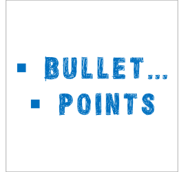 Powerpoint in style - Bullet points